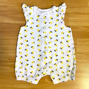 Little Me Lemon Summer Baby Romper Bodysuit Onesie